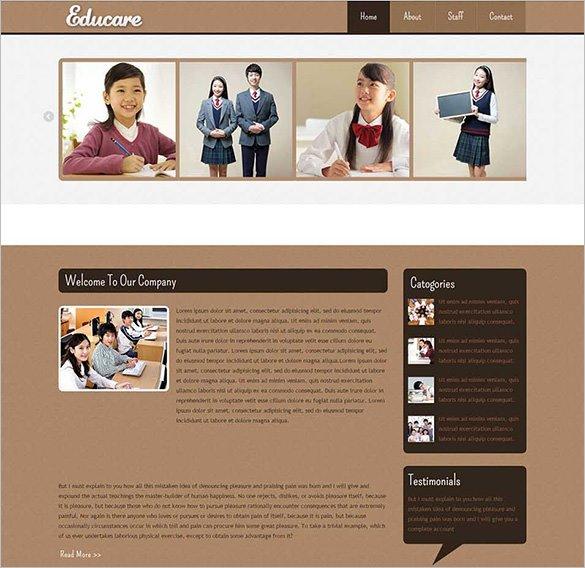 educare education mobile website template1