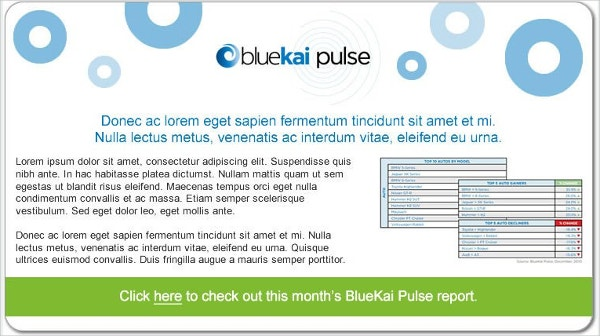 Email Marketing Templates for BlueKai
