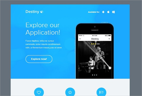 destiny email marketing template