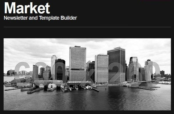email market responsive newsletter template