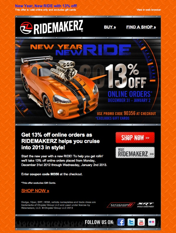 Ridemakerz Email Marketing
