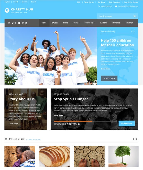 charity nonprofit fundraising wp theme 59