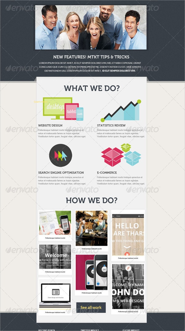 stone email marketing template