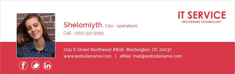 CEO Operations Email Signature for IT Services