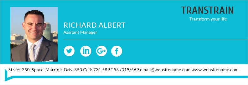 Email Signature for Assistant Manager