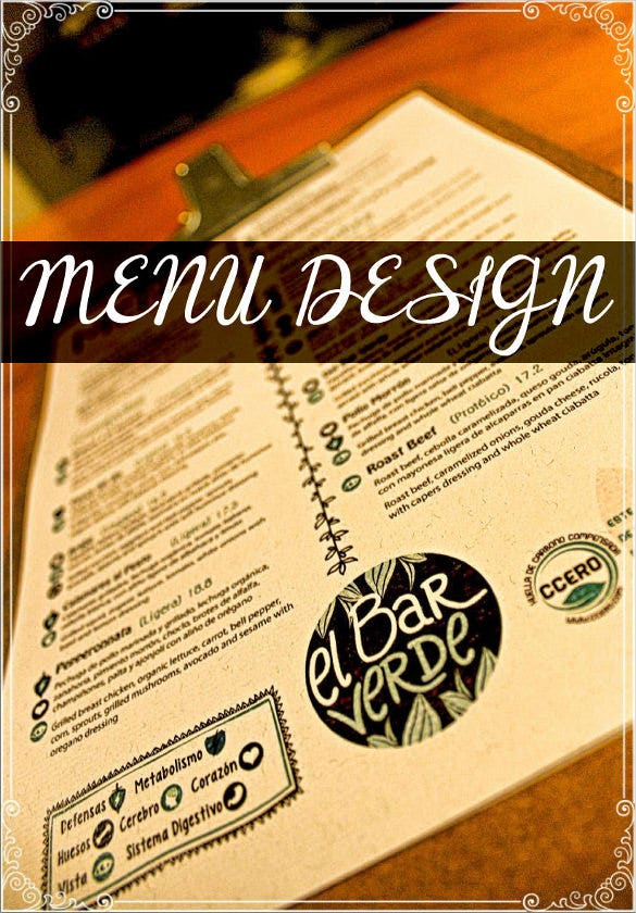 custom restaurant menu design template download
