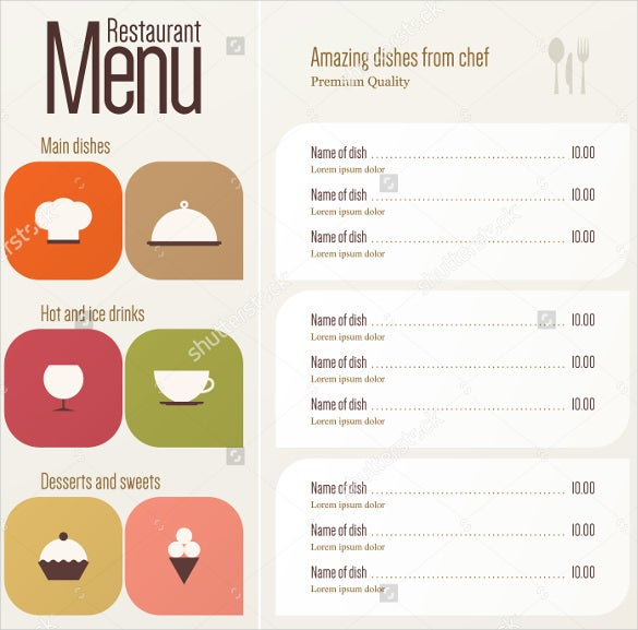 restaurant menu design download