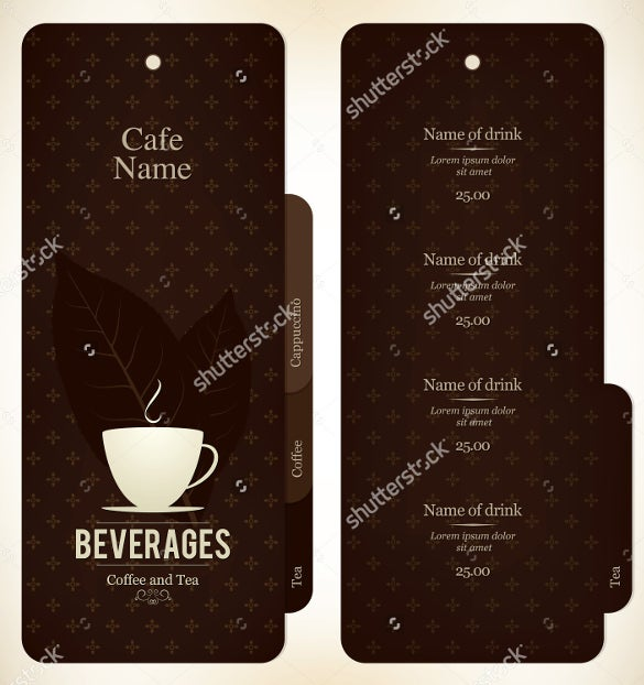 menu design for restaurant and cafe template