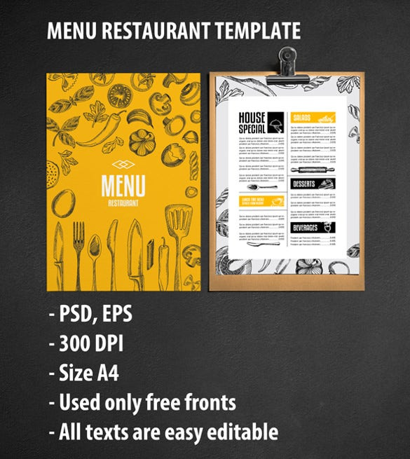design for menu template download