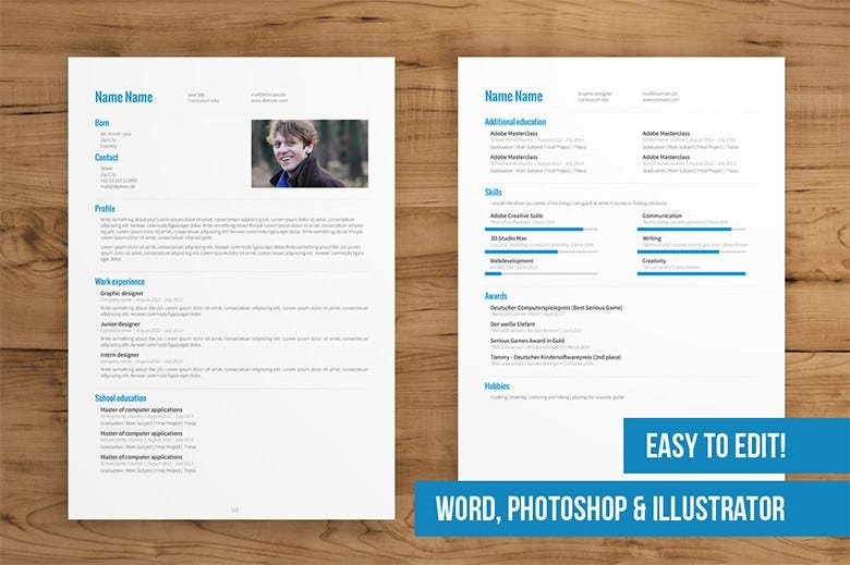 pages resume templates screenshot 5 resume cv templates for