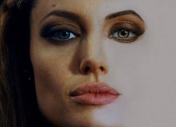 2 angelina jolie photo realistic color pencil drawing by adinugroho copy