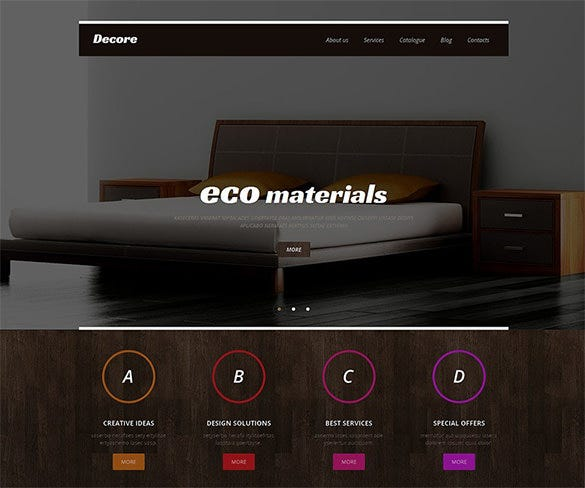 lovable interior design responsive wordpress theme