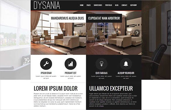 responsive multi purpose interior design wordpress theme