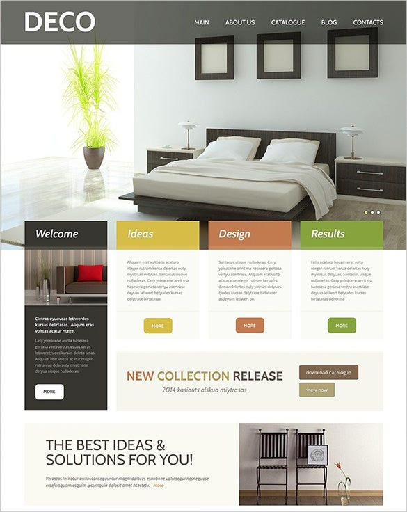 lavish interior design responsive wordpress theme