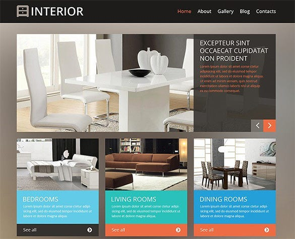 professional interior design wordpress template