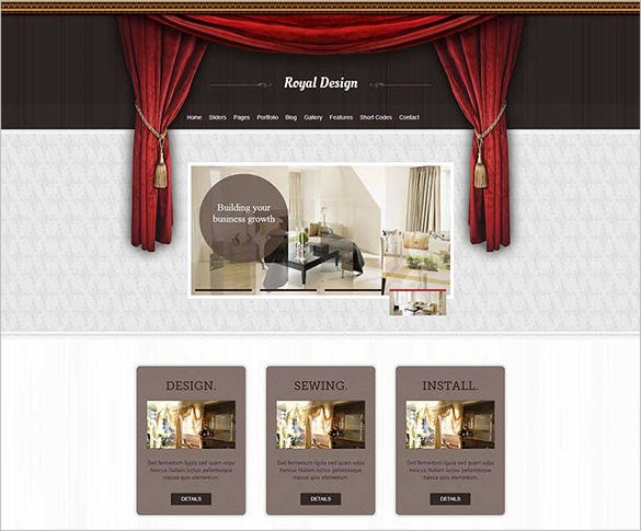 royal interior design wordpress theme