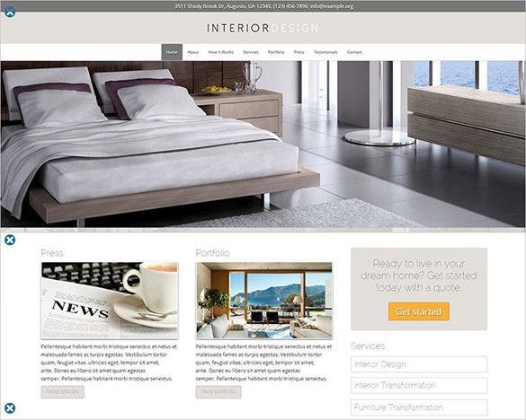 beautiful interior design wordpress theme