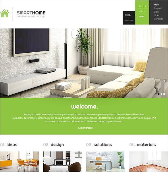 modern interior design wordpress theme