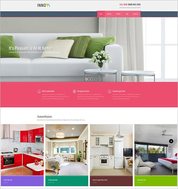 interior funiture design wordpress theme