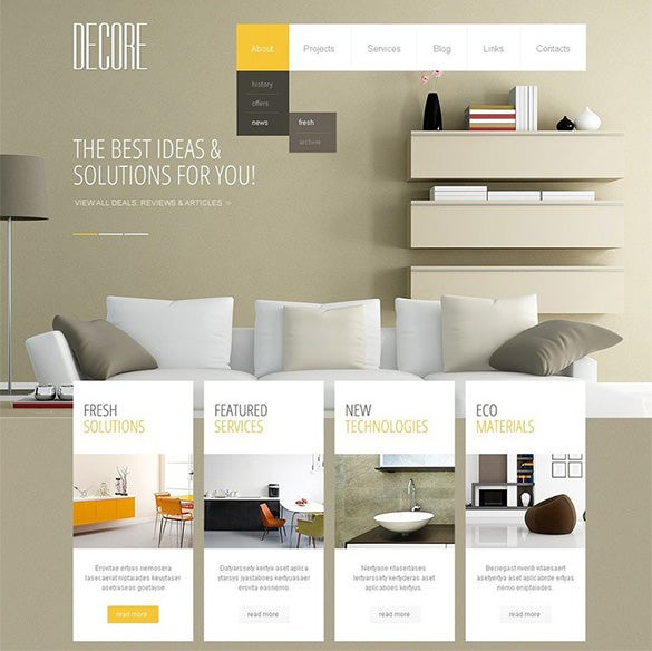 20 interior design wordpress themes templates free premium templates for Interior design wordpress theme