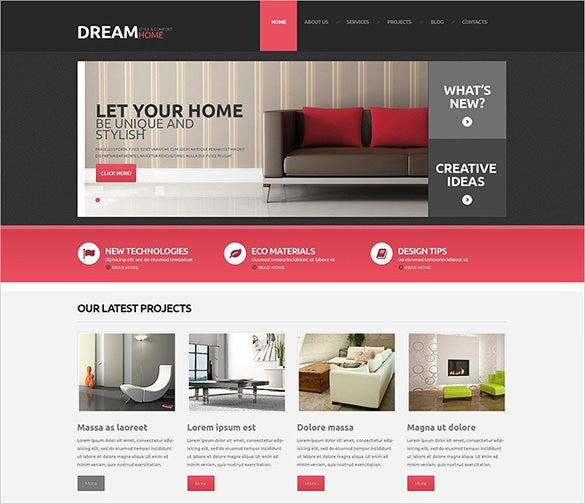 handsome interior design wordpress theme