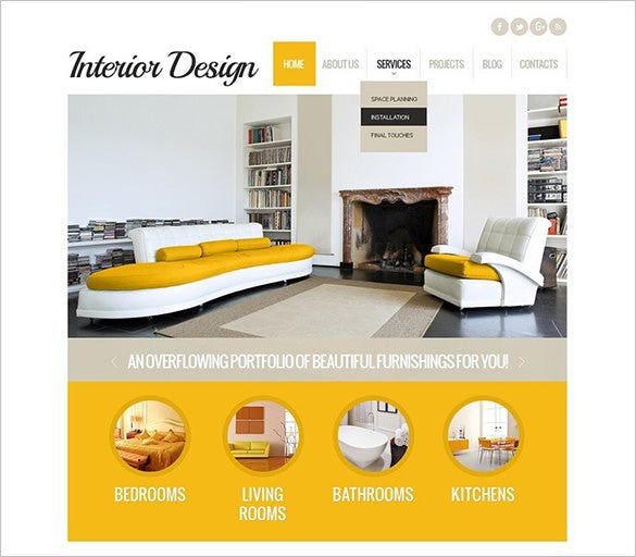 Creative Interior Design WordPress Theme $67