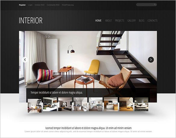 good looking interior design wordpress theme