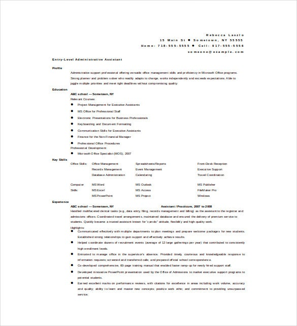 best administrative assistant resume sample to get job soon on resume examples for executive assistant resume