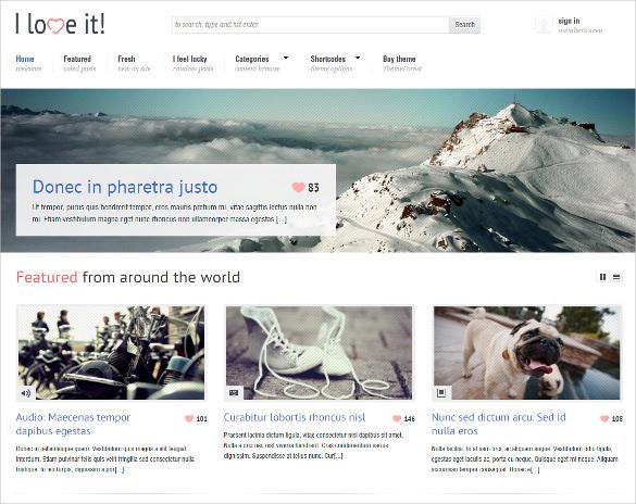 lightbox login integrated content sharing wordpress theme