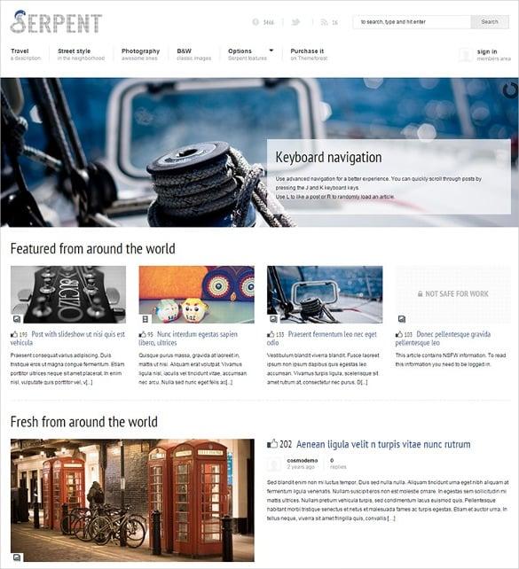 responsive social network content sharing wordpress theme