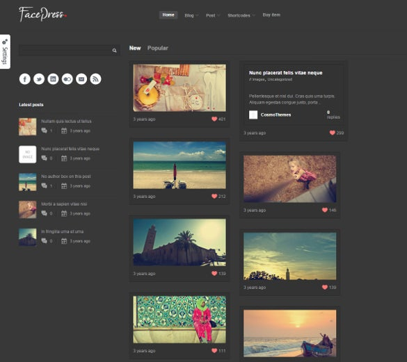 community content sharing wordpress website template