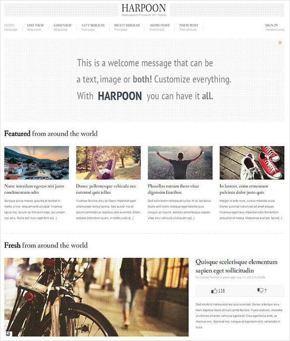 multioptions responsive content sharing wordpress theme
