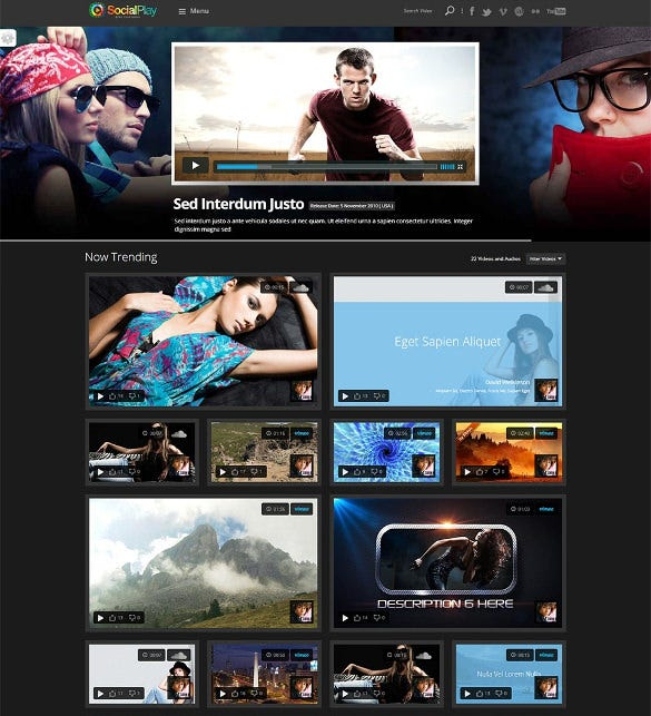 social media content sharing wordpress theme