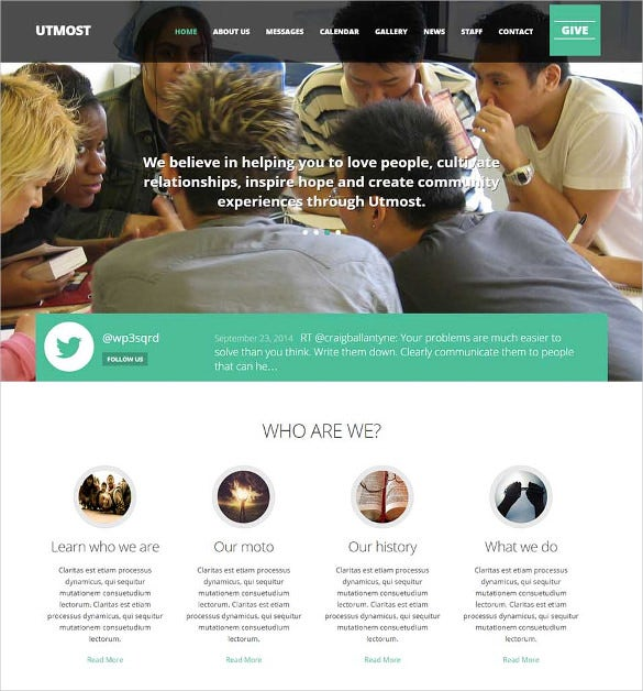 multimedia church non profit charity wordpress theme