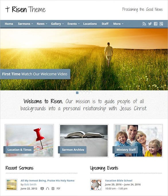 multimedia church wordpress theme