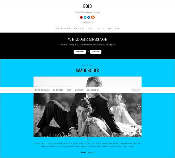 stylish blog multimedia wordpress template