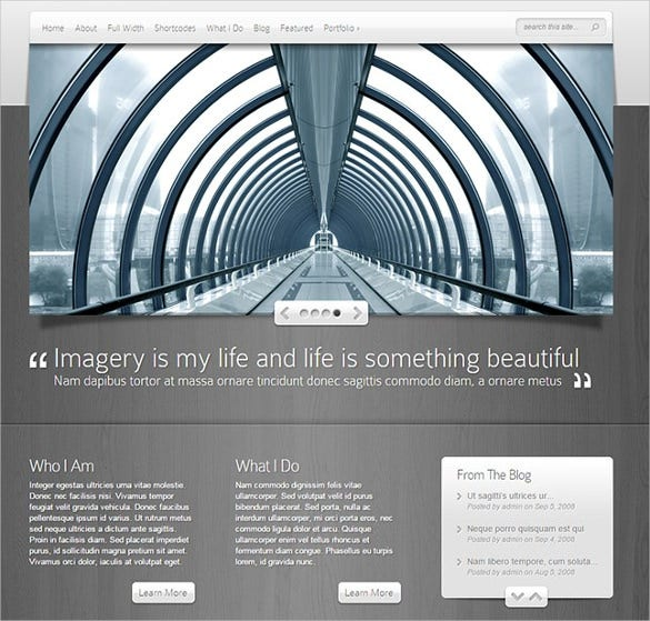 premium photography multimedia wordpress theme