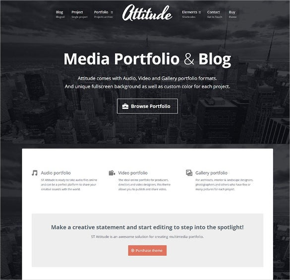 media artists multimedia wordpress theme