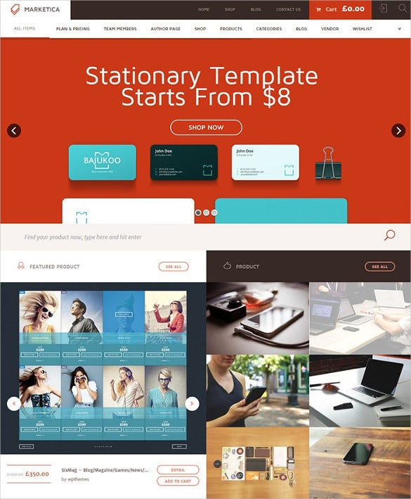 digital marketplace wordpress template