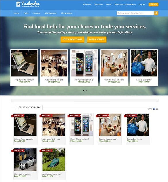 21+ Marketplace WordPress Themes & Templates | Free & Premium ...
