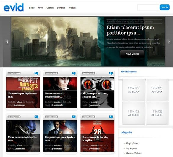 premium excellent video wordpress theme