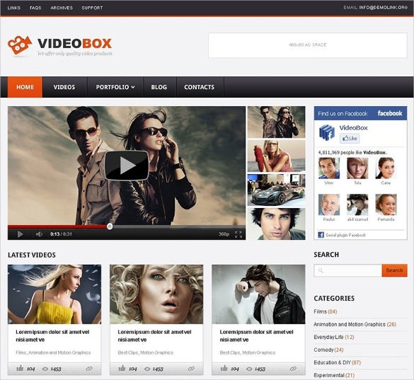 superb video gallery wordpress theme