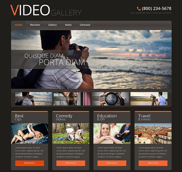 responsive video lab wordpress theme