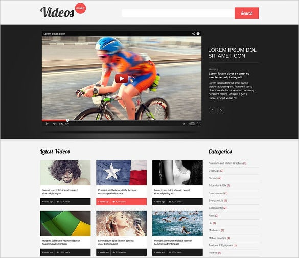 clean video lab responsive wordpress theme