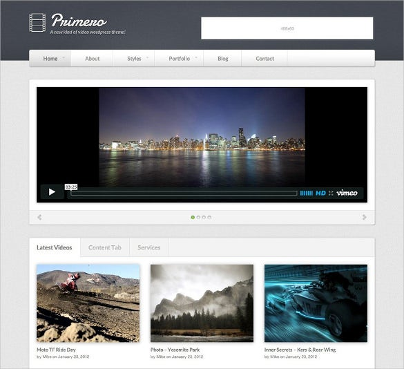 unique featured video wordpress template
