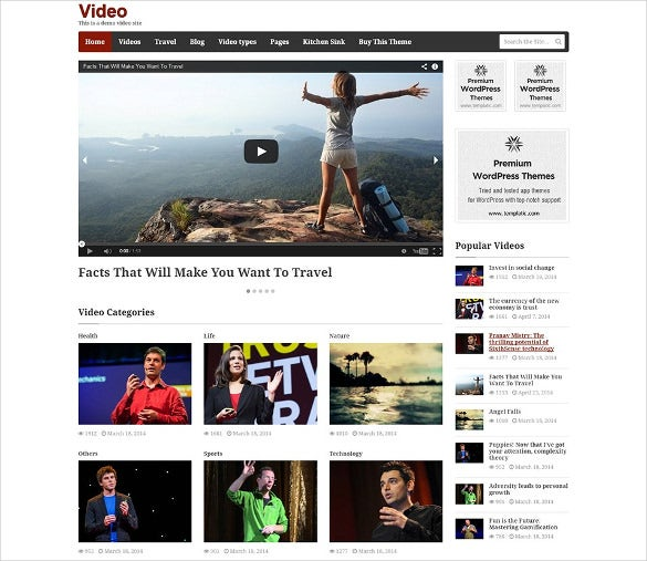 superb video wordpress theme