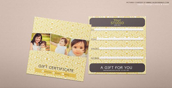 Gift certificate voucher psd
