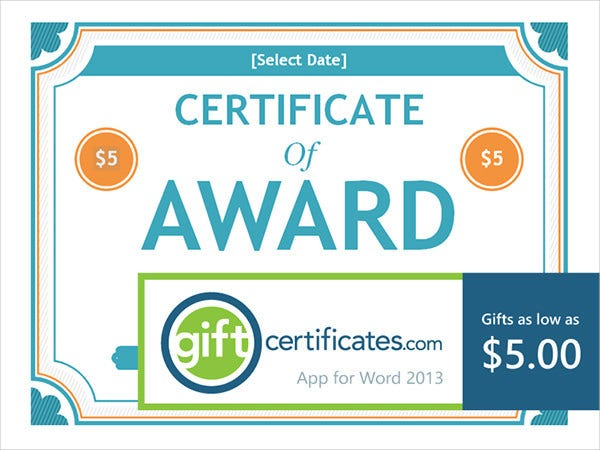 gift certificate award1