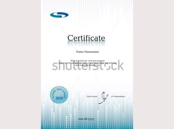 Certificate – Diploma for Print