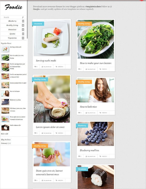 Food recipe blog website templates themes free premium free foodie responsive blogger template forumfinder Choice Image